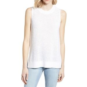 Lou & Grey | White Sweater Tank SM